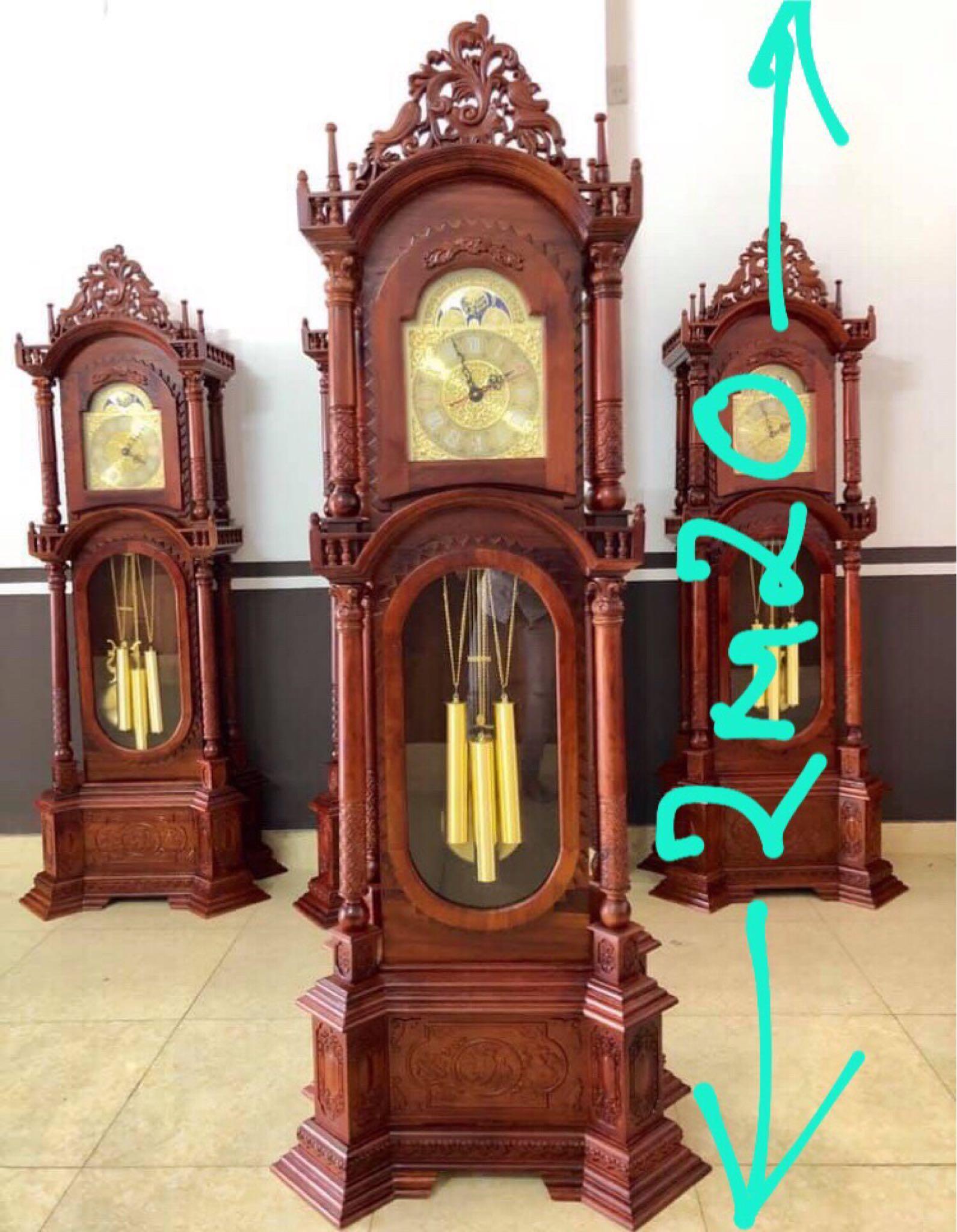 đồng hồ tứ trụ gỗ hương Việt