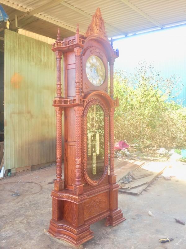 đồng hồ gỗ hương Việt
